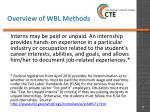 overview of wbl methods9