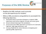 purposes of the wbl review