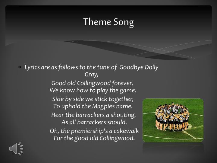 collingwood theme song