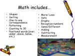 math includes