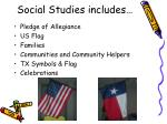 social studies includes