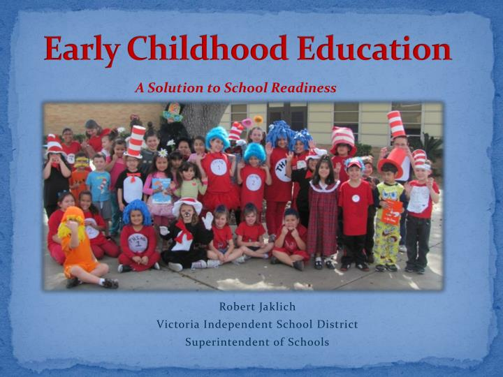 early childhood education n.