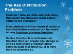 the key distribution problem