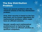 the key distribution problem2