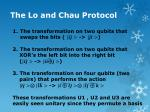 the lo and chau protocol10