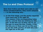 the lo and chau protocol11