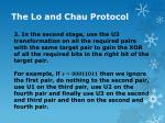 the lo and chau protocol12