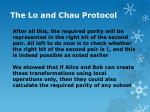 the lo and chau protocol13