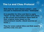 the lo and chau protocol16