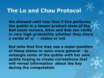 the lo and chau protocol17