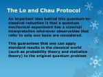 the lo and chau protocol22