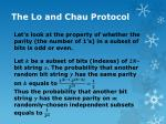 the lo and chau protocol6