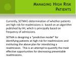 managing high risk patients4