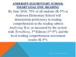 andersen elementary school smart goal one reading
