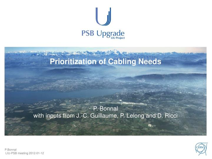 prioritization of cabling needs n.