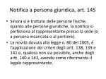 notifica a persona giuridica art 145