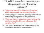 15 which quote best demonstrates maupassant s use of sensory language1