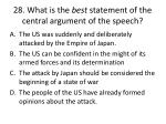 28 what is the best statement of the central argument of the speech