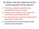 28 what is the best statement of the central argument of the speech1