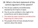 28 what is the best statement of the central argument of the speech2