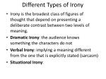 different types of irony