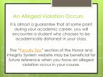 an alleged violation occurs