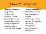 edward t hall s model