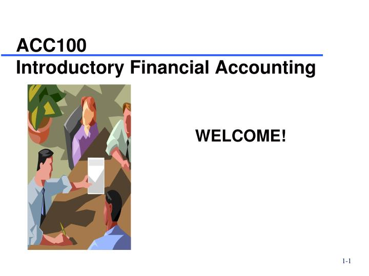 acc100 introductory financial accounting n.
