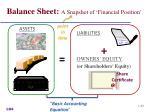 balance sheet a snapshot of financial position