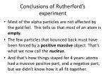 conclusions of rutherford s experiment
