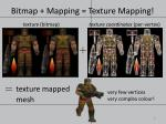 bitmap mapping texture mapping