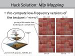 hack solution mip mapping