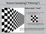 texture sampling filtering