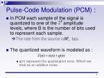 pulse code modulation pcm