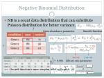 negative binomial d istribution