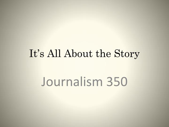 it s all about the story n.