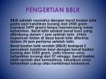 pengertian bblr