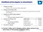 klasifik cia ad hoc dopytov zo s mantick ch