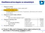 klasifik cia ad hoc dopytov zo s mantick ch1