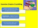 sasanian empire crumbling