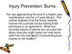 injury prevention burns