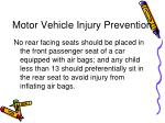 motor vehicle injury prevention
