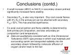 conclusions contd