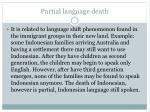 partial language death