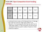 fy14 upk open competitive grant funding formula