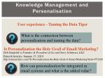 knowledge management and personalisation