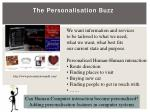 the personalisation buzz