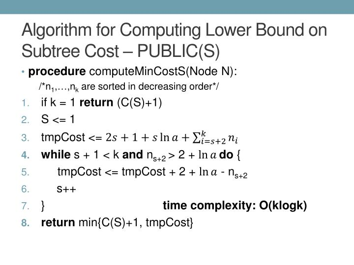Algorithm for Computing Lower