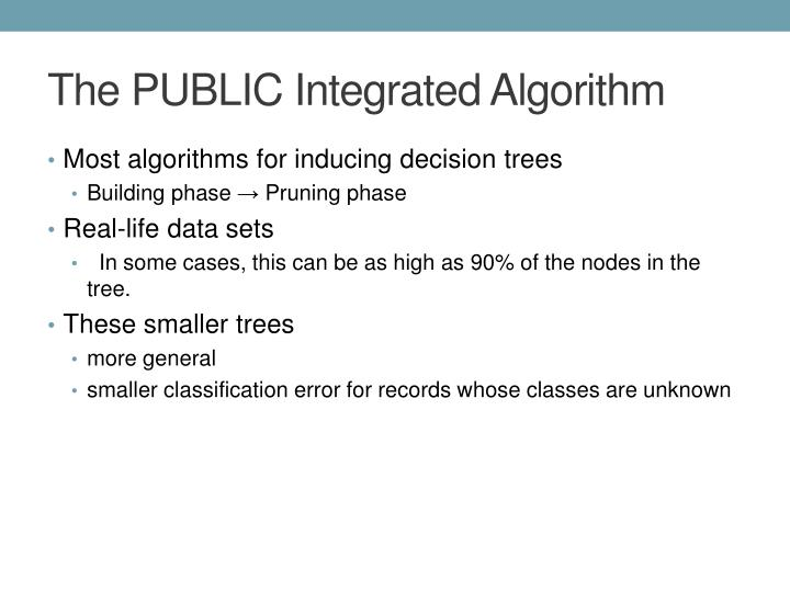 The PUBLIC Integrated Algorithm