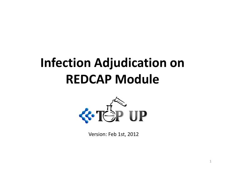 infection adjudication on redcap module n.